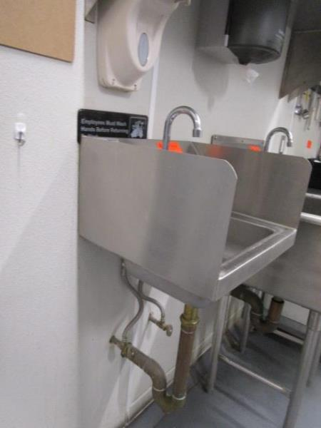 Stainless Steel Hand Sink w/ Dual Side Splash Guards, - Image 2 of 3