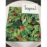 """90"""" Round Tropical Print Umbrella Tablecloths"""
