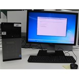 DELL OPTIPLEX 7020 TOWER COMPUTER W/DELL MONITOR, KEYBOARD, MOUSE (WINDOWS 7)