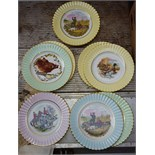 Lot 60 - Collectors Plates Boar, Hunting, Fishing Scenes