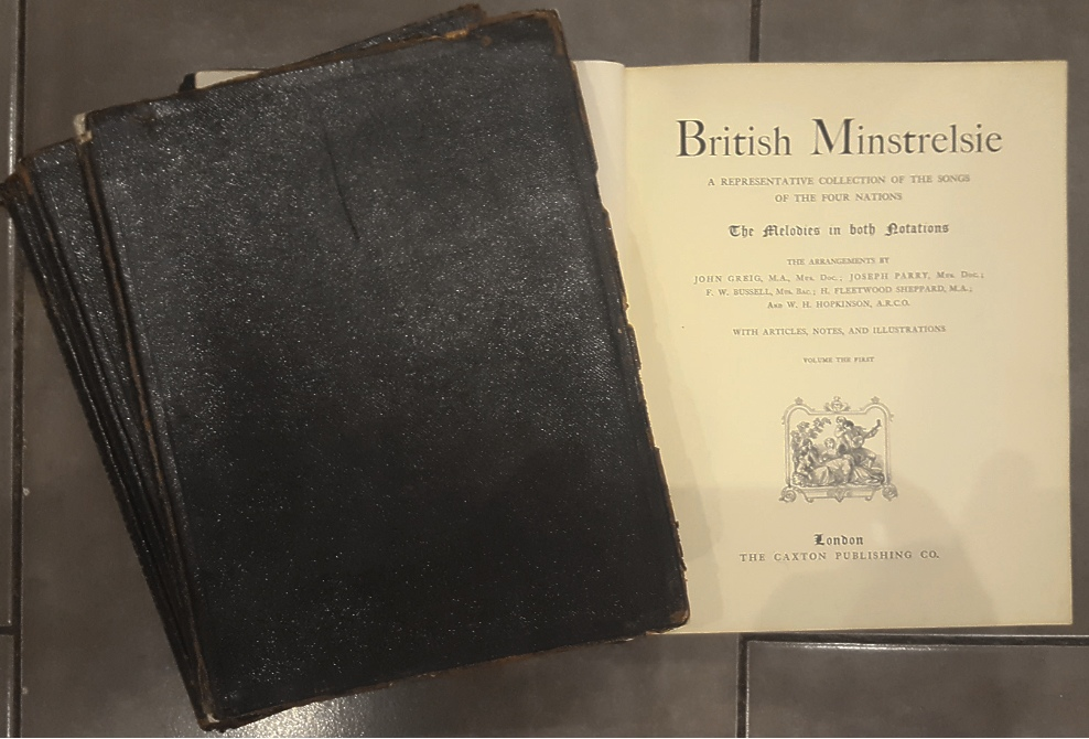 Lot 24 - 4 Volumes of British Minstrelsies Song Books early 1900's
