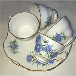 Lot 55 - Staffordshire China Tea Cups