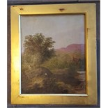 Lot 27 - Early 20th Century Painting Oil on Canvas Rustic Scene Signed Morris