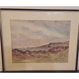 Lot 33 - Painting Pastel Coastal Scene Isle of Man Signed Robinson