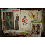 Lot 9 - Box of Vintage/Retro sewing pattern ***reserve reduced***
