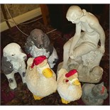 Lot 38 - Group of Plaster, Resin & Plastic Garden Figures