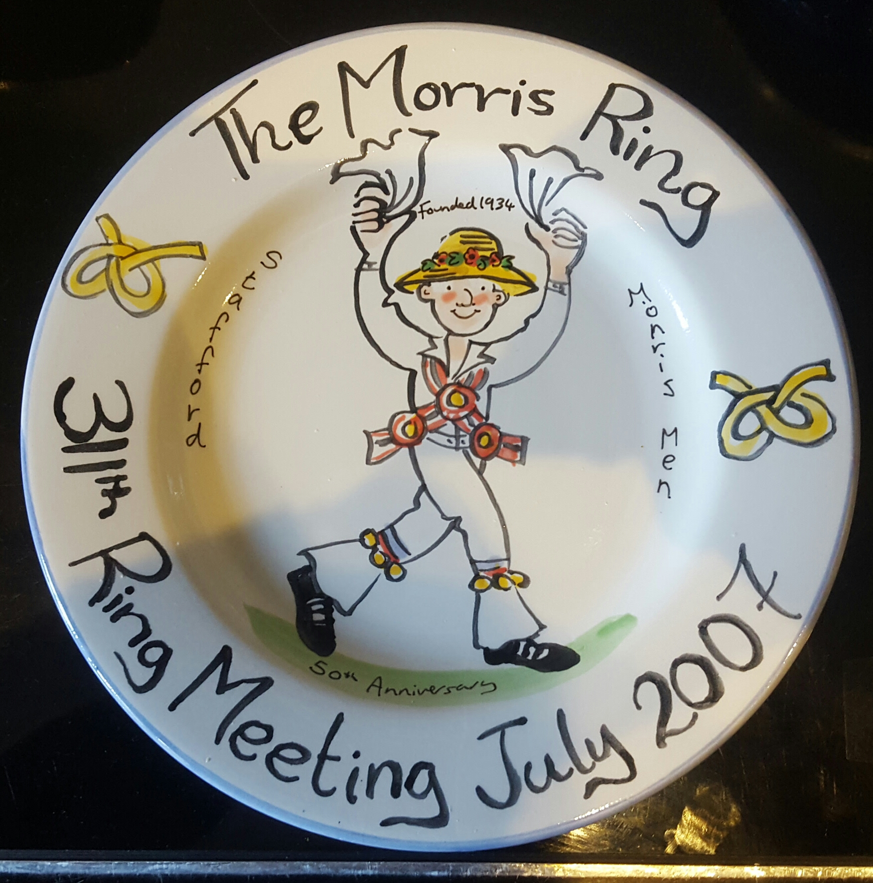 Lot 47 - 2 Morris Dancers Collectors Plates
