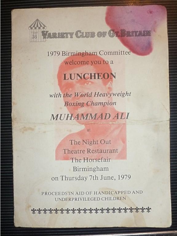 Lot 21 - Muhammad Ali Sportsman Dinner Programme 1979 Signed