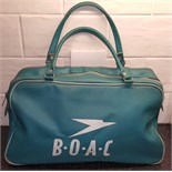 Lot 52 - Vintage Retro BOAC Airline Bag