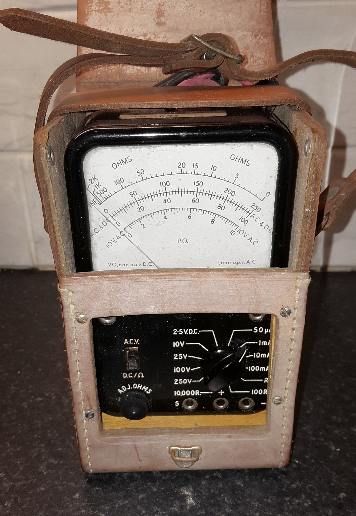 Lot 51 - Vintage Retro Multi Range Meter in Case