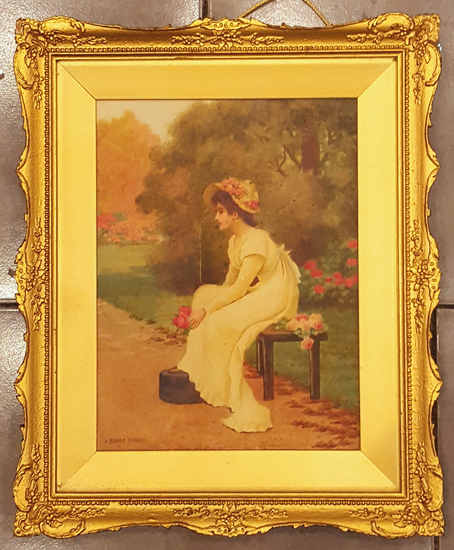 Lot 28 - Watercolour Painting H Bland Sparks Signed