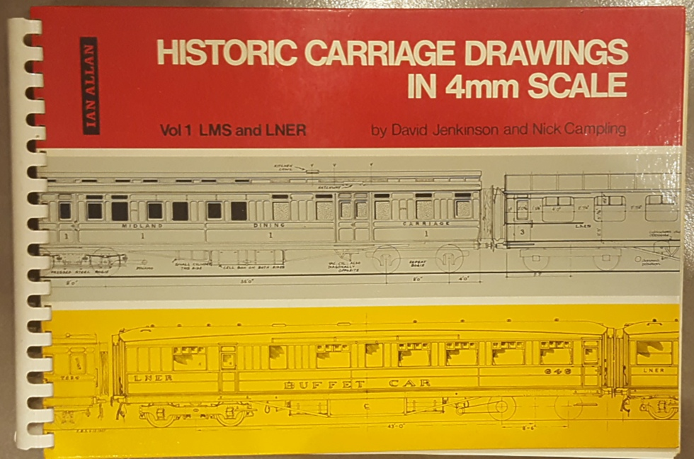 Lot 26 - Book Historic Carriage Drawings in 4mm Scale 1969 ***reserve reduced***