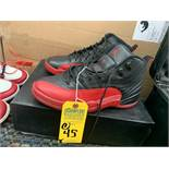 PAIR NIKE AIR JORDAN JUMP MAN 130690-002 - MENS / BLACK & RED / SIZE 11