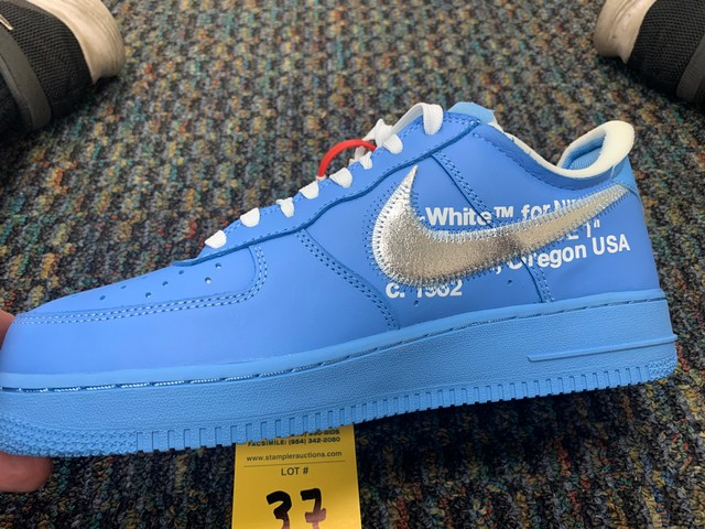 PAIR NIKE AIR FORCE ONE CI1173-400 - MENS / BLUE / SIZE 10 - Image 4 of 5