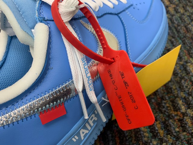 PAIR NIKE AIR FORCE ONE CI1173-400 - MENS / BLUE / SIZE 10 - Image 3 of 5