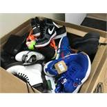 PAIR ASSORTED SNEAKERS, SHOES, SANDALS, HEELS, ETC - NIKE / REEBOK / CHAMPION / DOC MARTIN /