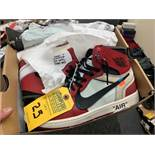 PAIR NIKE AIR JORDAN AA38434-101 - MENS / ONE OFF-WHITE & RED / SIZE 13