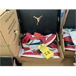 PAIR NIKE AIR JORDAN AA3834-101 - MENS / OFF-WHITE & RED / SIZE 12