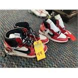 PAIR NIKE AIR JORDAN AA3834-101 - MENS / OFF-WHITE & RED - SIZE 8 / SIZE 9