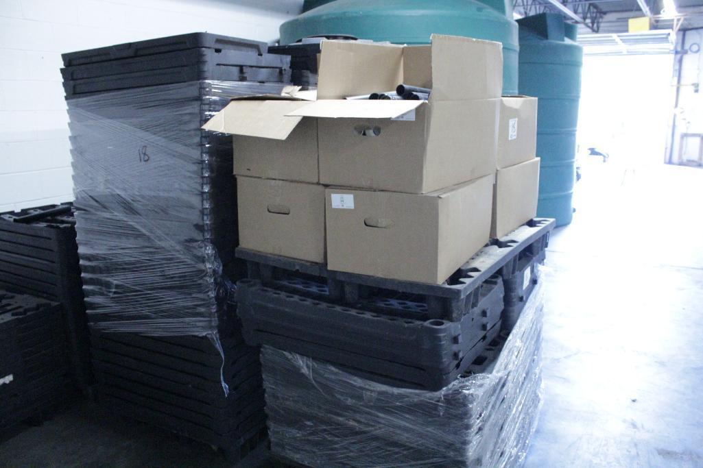 Lot 18 - Pallets of plastic shelving