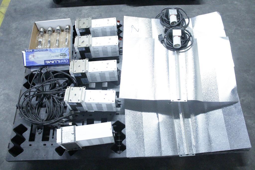 Lot 7 - Sun System ballast w/ reflectors & bulb SLS-CWA-HPS600A / 2T