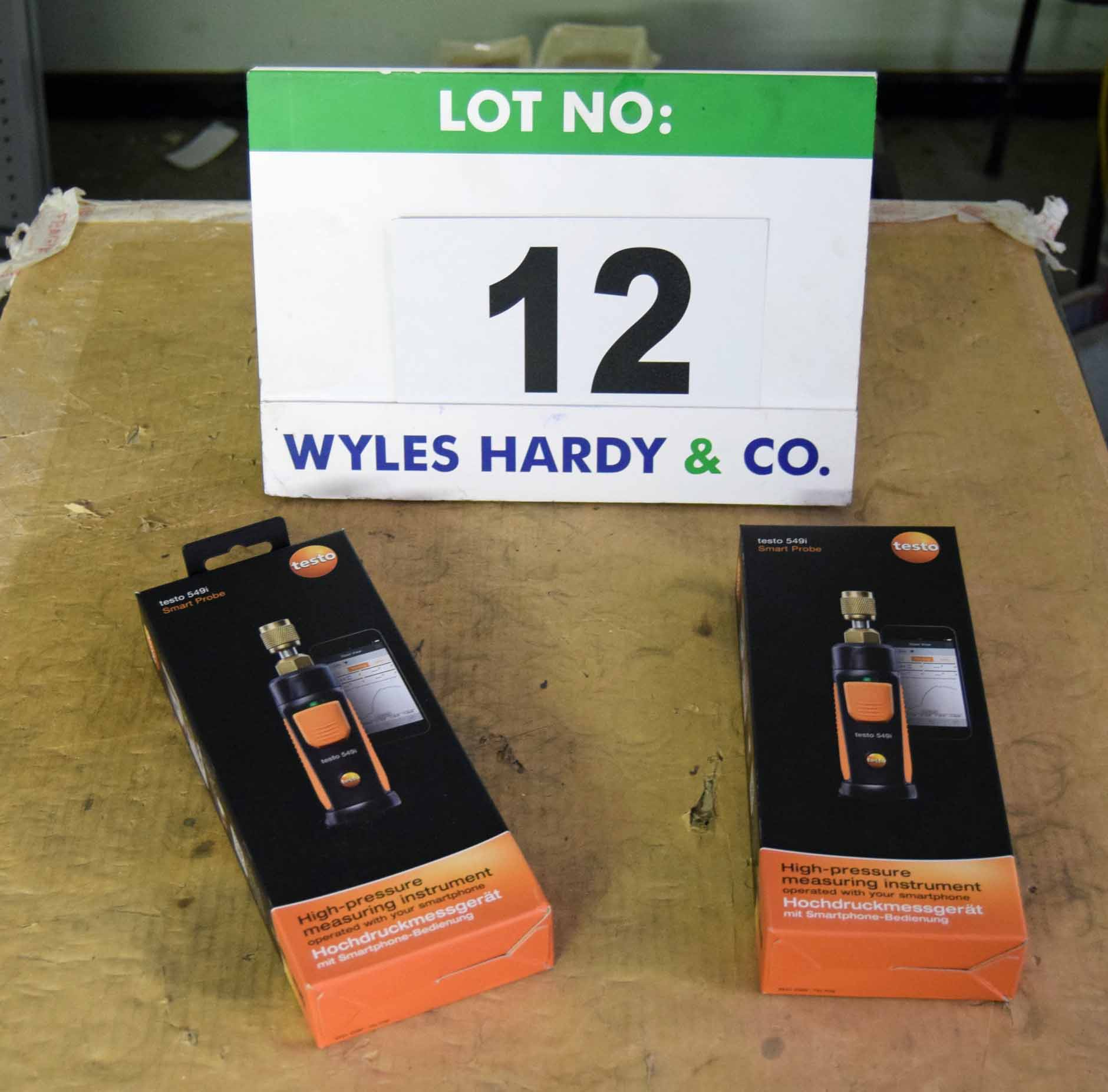 Lot 12 - Two TESTO 549i Smart Probes (As Photographed)