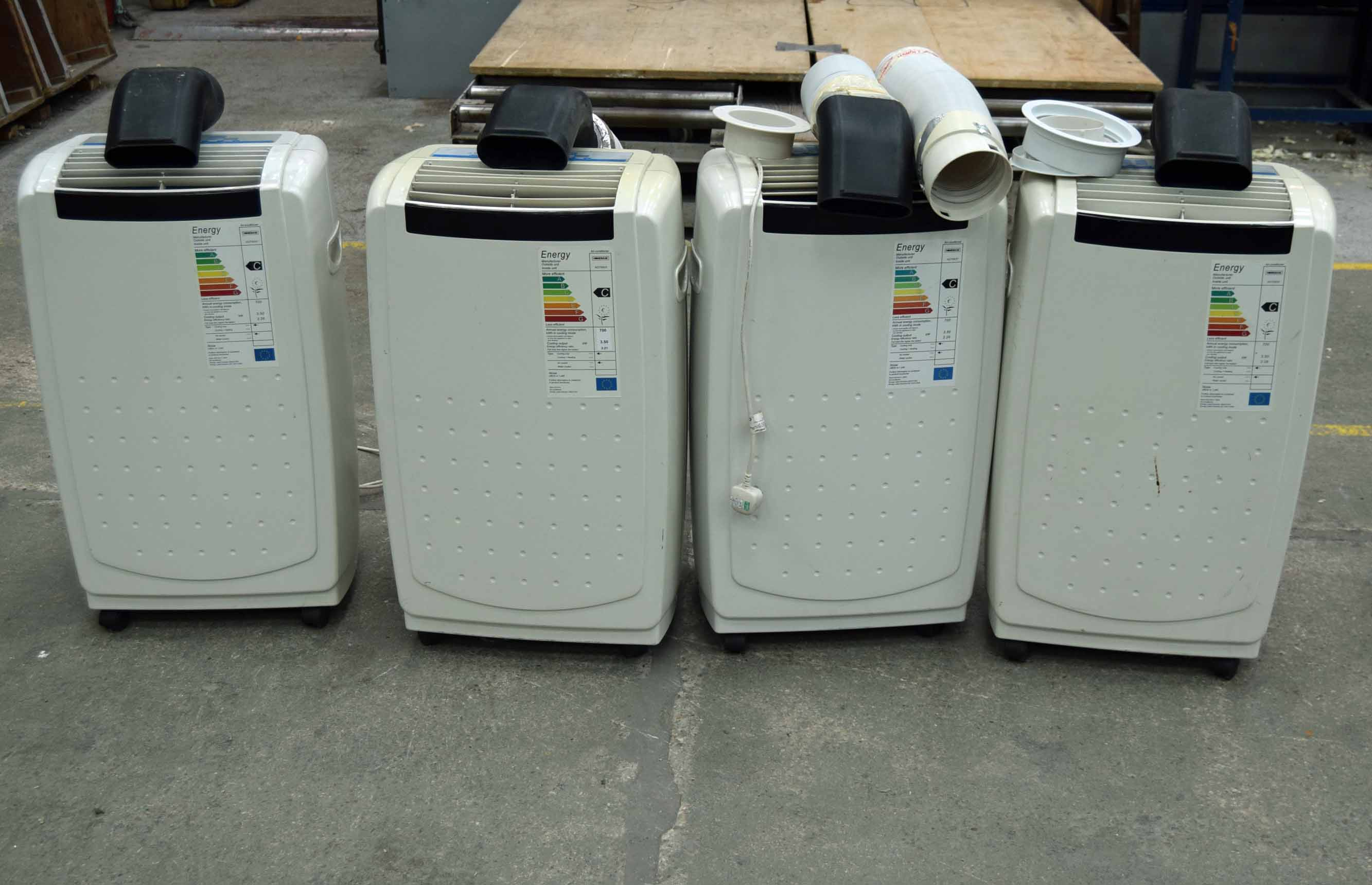 Lot 15 - Four Portable Heavy Duty Airconditioning Units (As Photographed)