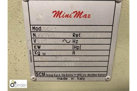 SCM Mini Max SC3 Tilt Arbor Panel Saw, 415volts, year 1999