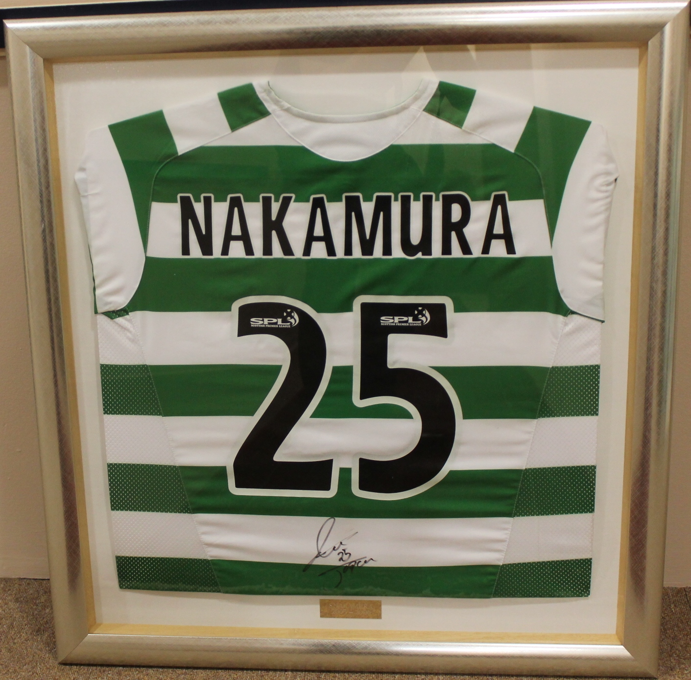 the best attitude 89fb8 af803 CELTIC JERSEY Match worn in CIS cup and signed by Shunsuke ...
