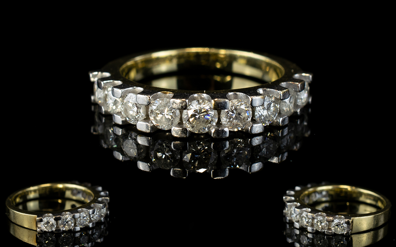 Lot 22 - 18ct White Gold 1/2 Eternity Set Diamond