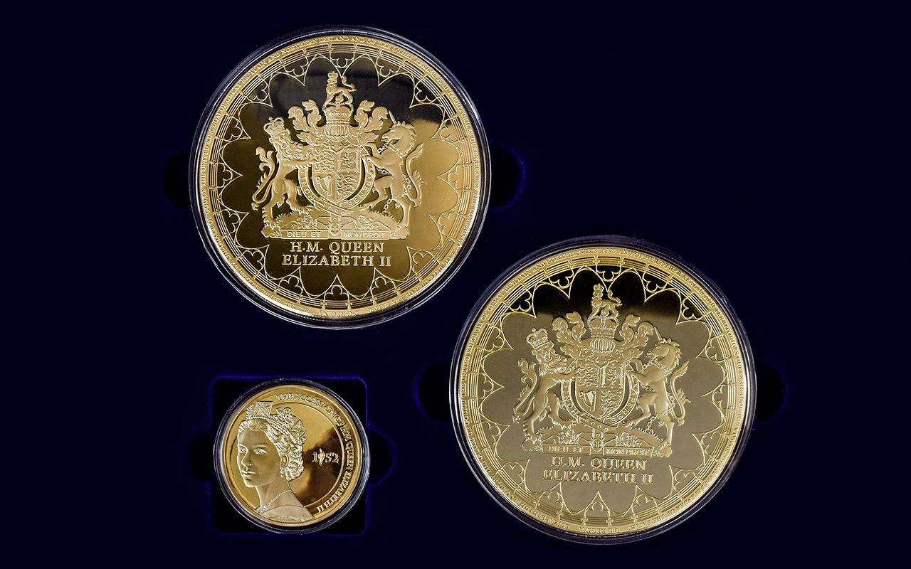 Lot 244 - A Collection of Super size 24ct Gold Pla