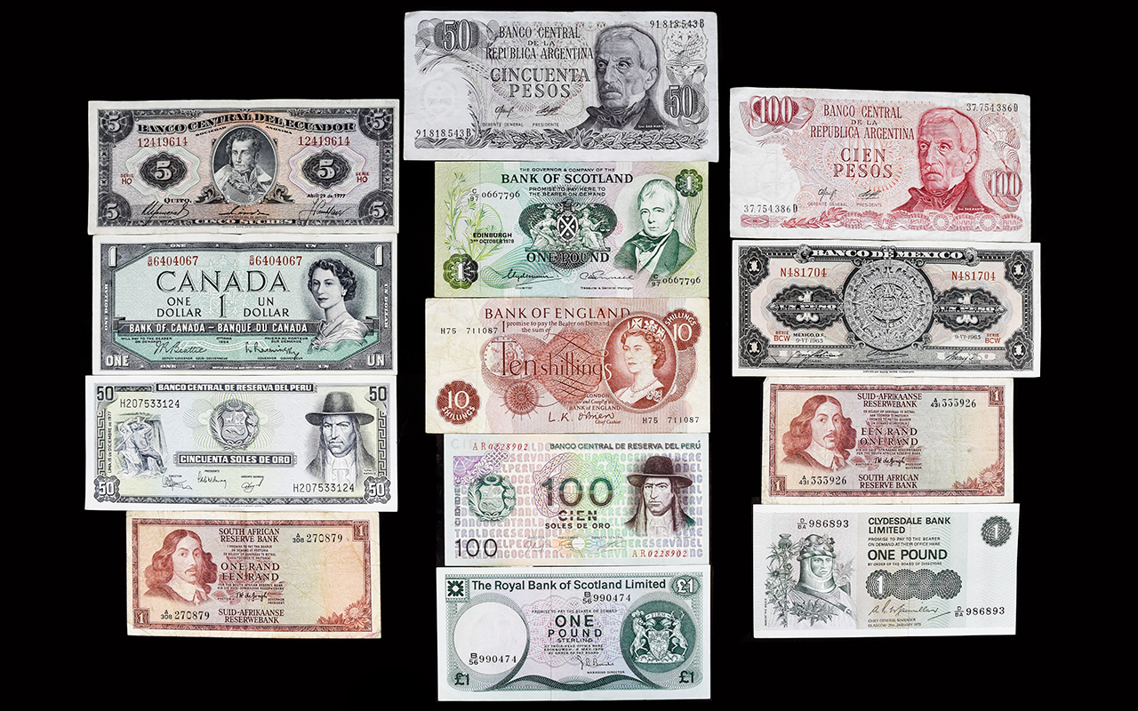 Lot 222 - A Collection of World Banknotes ( 13 ) I