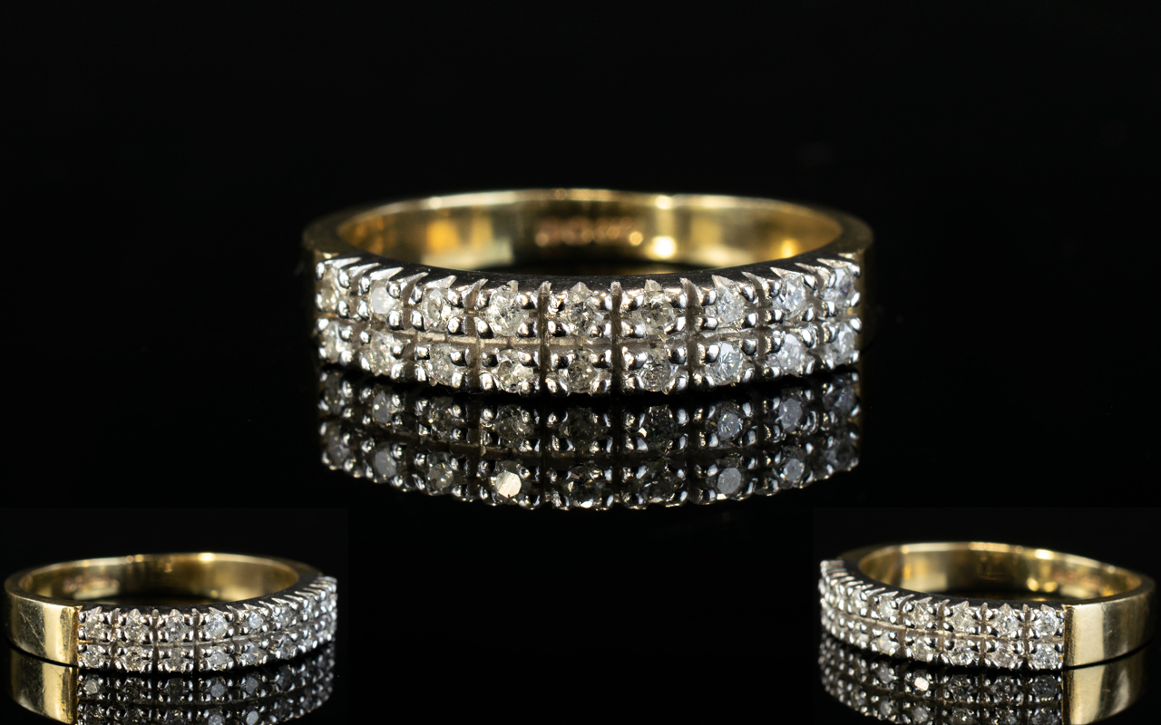 Lot 39 - Ladies 9ct Gold 1/2 Half Eternity Diamon