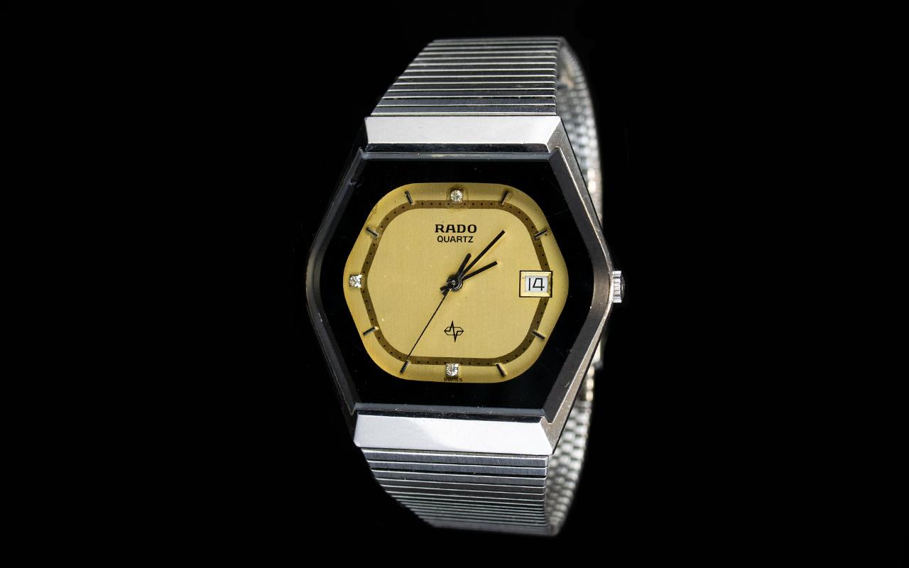 Lot 269 - Rado Quartz Wristwatch with hexagonal fa