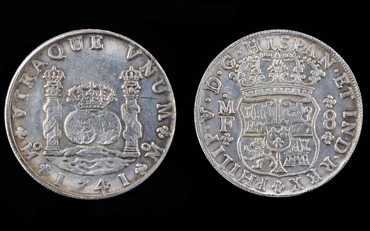 Lot 212 - Spain Philip V 8 Reales Silver Coin. Dat