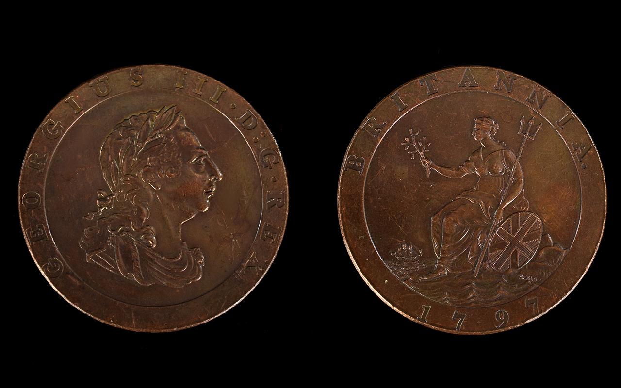 Lot 151 - George III - Superb Quality 1797 Cartwhe