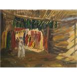 W. G. Scott-Brown 'Bill'(1897-1987) Acrylic on canvas  Dyers' souk in Marrakech, signed lower right,