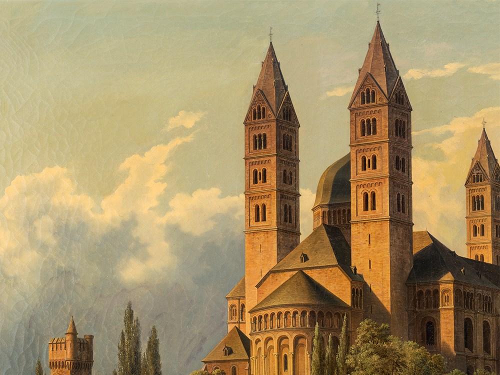 Hubert Sattler 1817 1904 Kosmorama Speyer Cathedral
