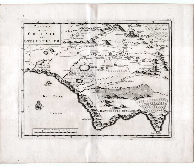 Lot 155 - Peter Kolbe CAARTE Van de COLONIE VAN STELLENBOSCH Peter Kolbe (1675–1726) was an astronomer who