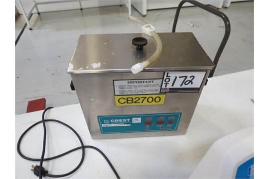 Crest 500D Ultrasonic Cleaner, S/N 050DS97160