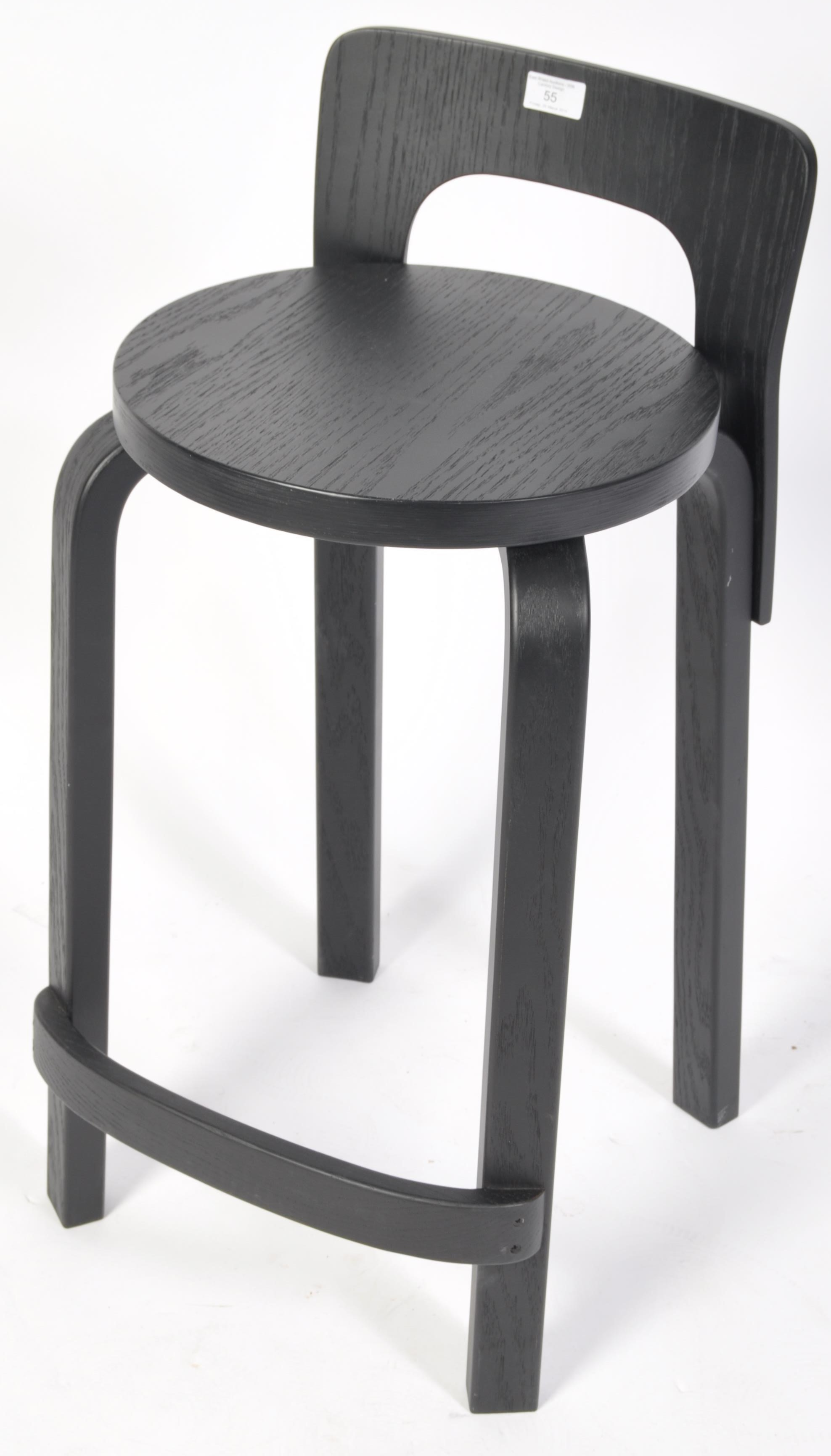 Lot 55 - AFTER ALVAR AALTO K65 CONTMEPORARY BENTWOOD BAR STOOL