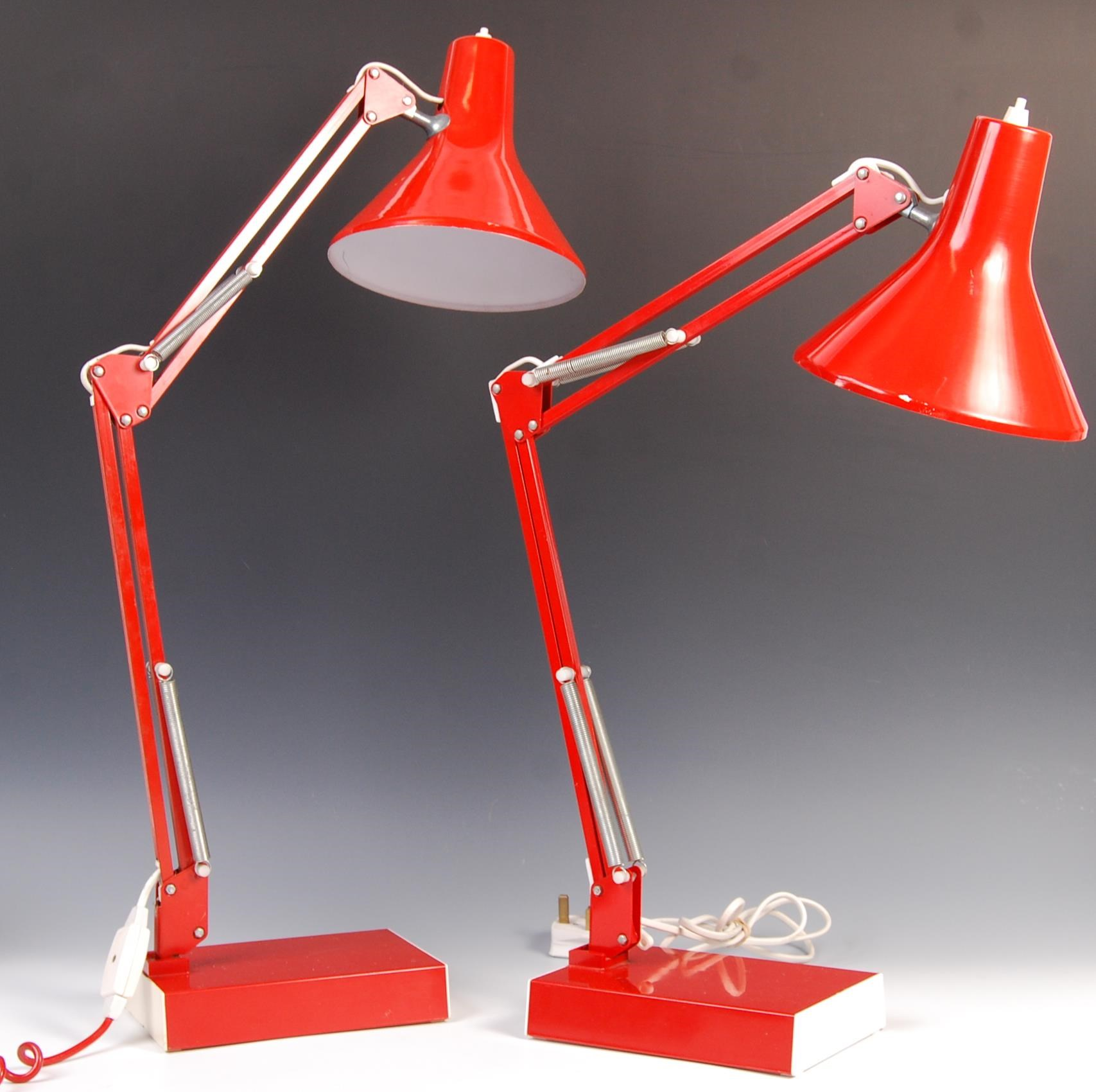 Lot 41 - SCANDINAVIAN RETRO VINTAGE ' ANGLEPOISE ' TYPE DESK LAMPS