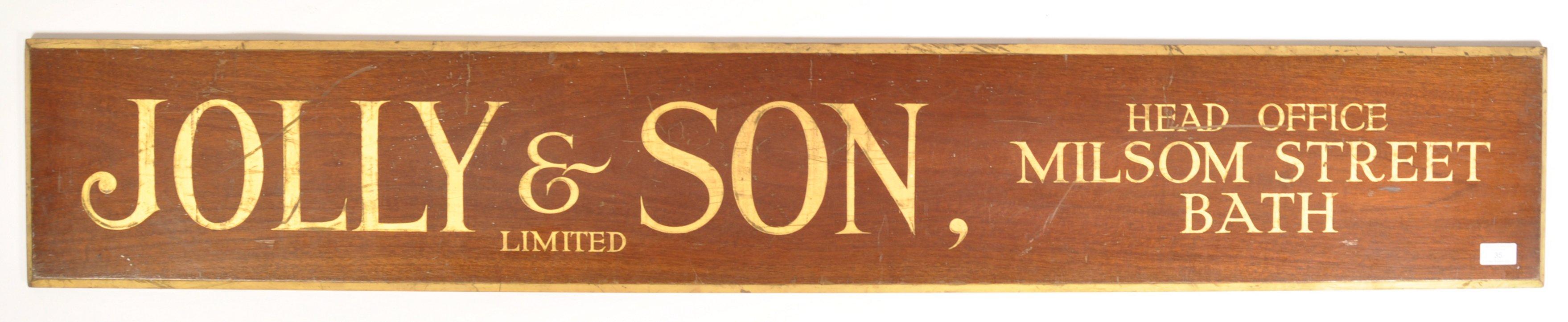 Lot 35 - JOLLY & SON LTD LATE 20TH CENTURY GILT AND MAHOGANY SIGN