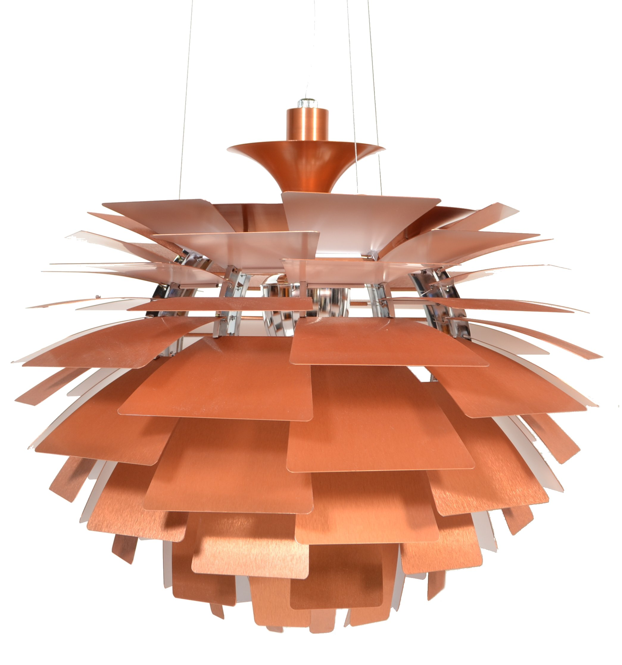 Lot 24 - AFTER POUL HENNINGSEN A CONTEMPORARY ARTICHOKE LAMP