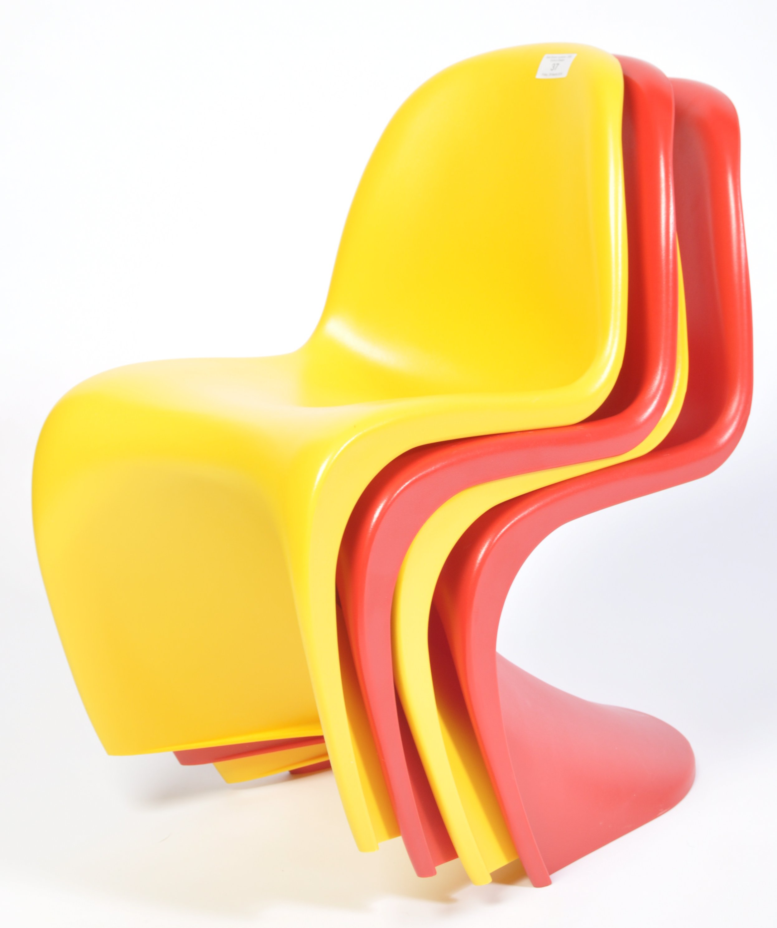 Lot 37 - AFTER VERNER PANTON A CONTEMPORARY SET OF KIDS ' S ' CHAIRS