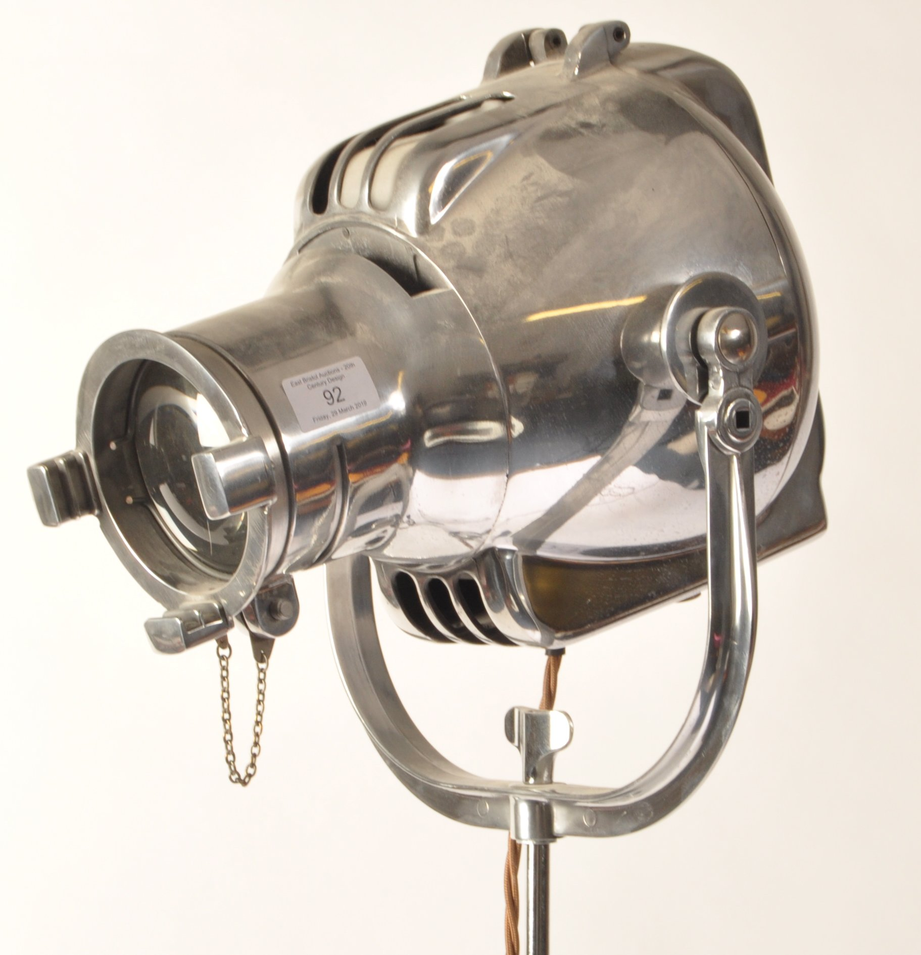 Lot 13 - STRAND ELECTRIC MODEL 743 RETRO INDUSTRIAL THEATRE LAMP
