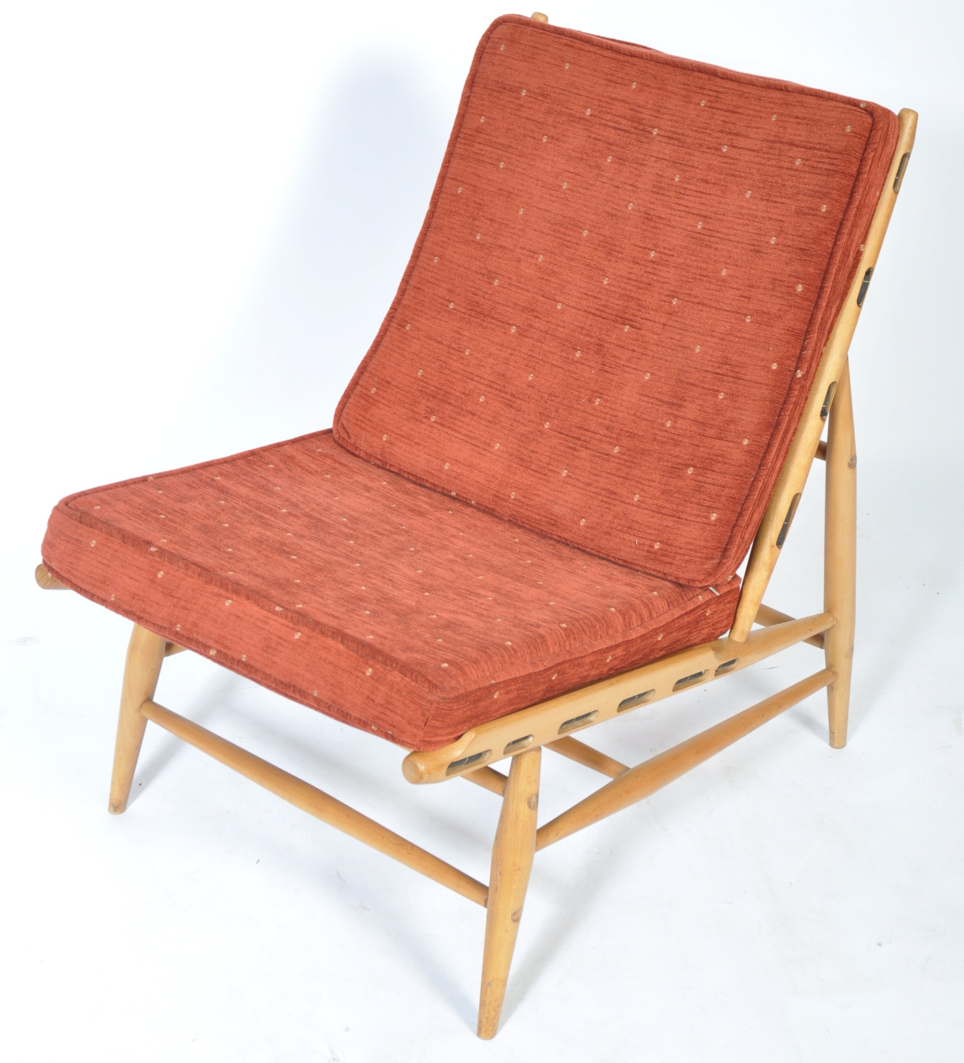Lot 23 - ERCOL VINTAGE MODEL 427 EASY LOUNGE CHAIR BY LUCIAN ERCOLANI