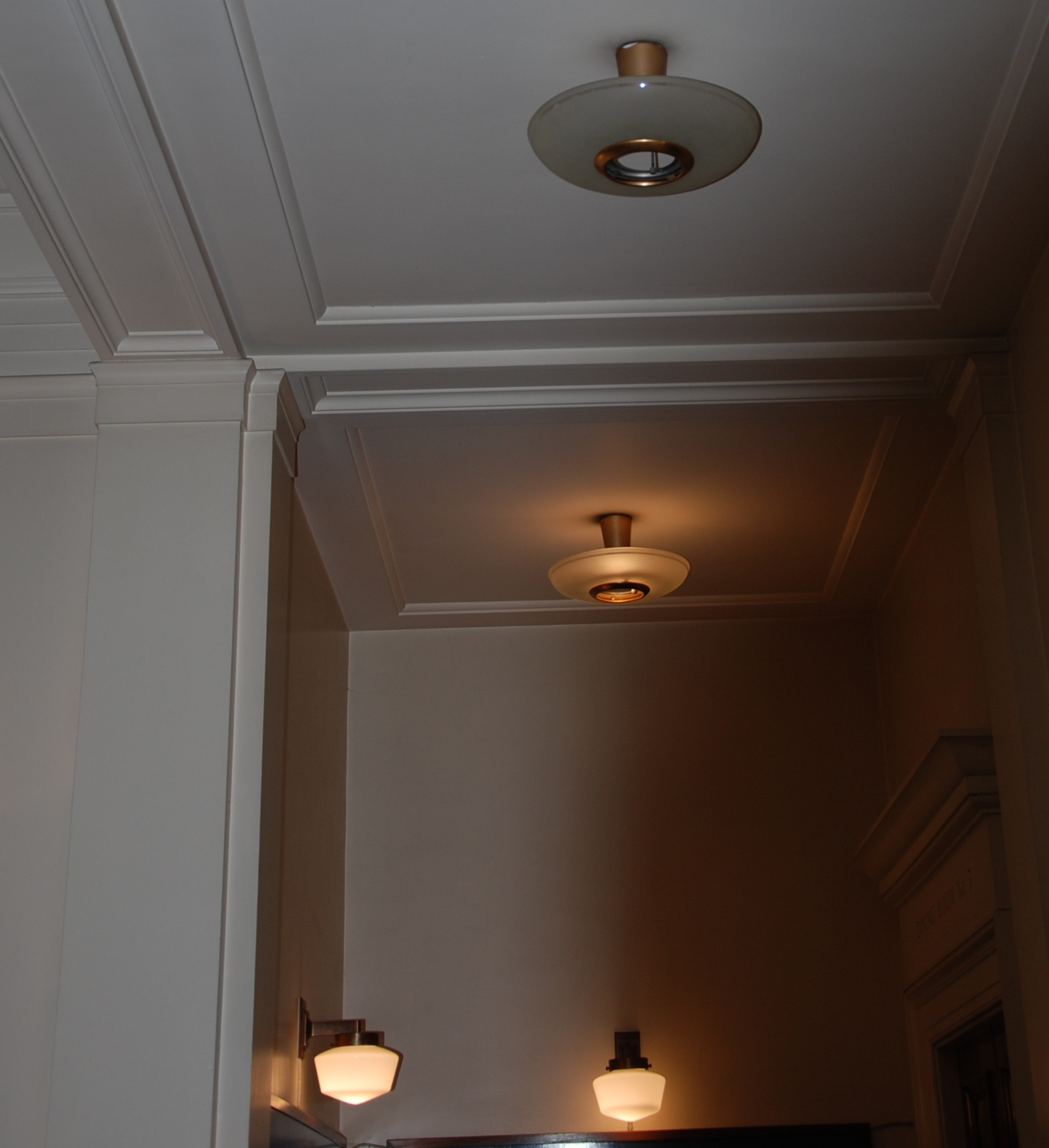 Lot 31 - 1950'S CEILING UPLIGHTERS REMOVED FROM THE MASONIC HALL BRISTOL