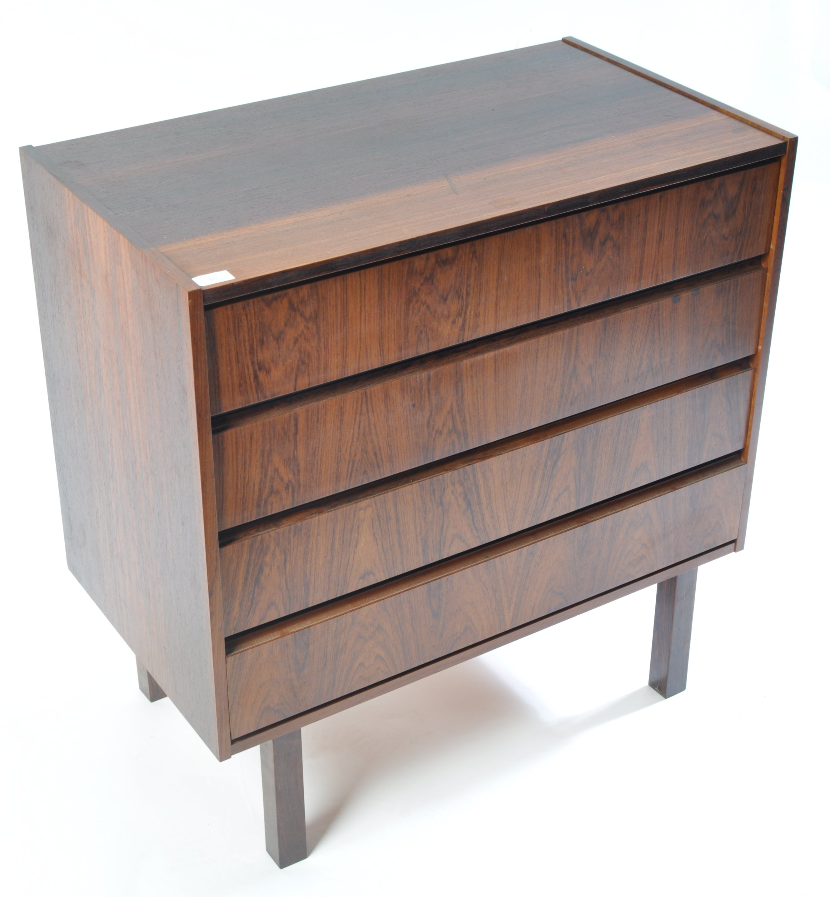 Lot 40 - DANISH INSPIRED RETRO VINTAGE CHEST OF FOUR DRAWERS