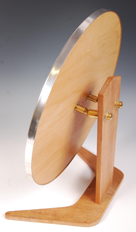 Lot 27 - DANISH 20TH CENTURY TEAK WOOD DRESSING TABLE MIRROR